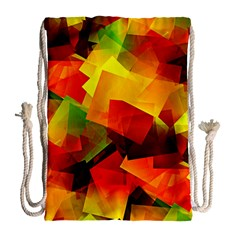 Indian Summer Cubes Drawstring Bag (large) by designworld65
