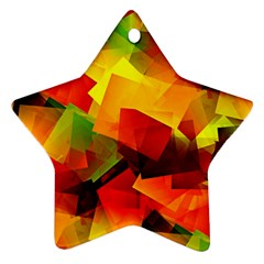 Indian Summer Cubes Ornament (star)  by designworld65