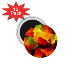 Indian Summer Cubes 1 75  Magnets (10 Pack)  by designworld65