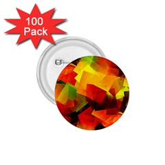 Indian Summer Cubes 1 75  Buttons (100 Pack)  by designworld65
