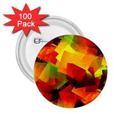 Indian Summer Cubes 2 25  Buttons (100 Pack)  by designworld65