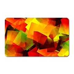 Indian Summer Cubes Magnet (rectangular) by designworld65