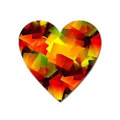 Indian Summer Cubes Heart Magnet by designworld65