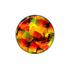 Indian Summer Cubes Hat Clip Ball Marker by designworld65
