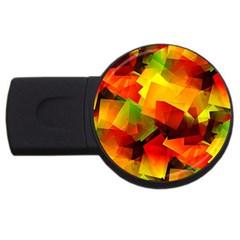 Indian Summer Cubes Usb Flash Drive Round (4 Gb)  by designworld65