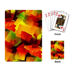 Indian Summer Cubes Playing Card by designworld65