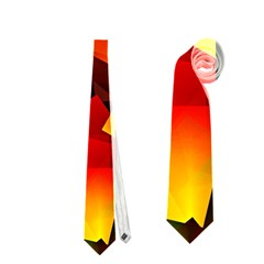 Indian Summer Cubes Neckties (one Side)  by designworld65