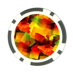 Indian Summer Cubes Poker Chip Card Guards (10 Pack)  by designworld65
