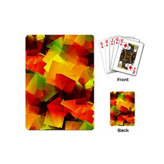 Indian Summer Cubes Playing Cards (mini)  by designworld65