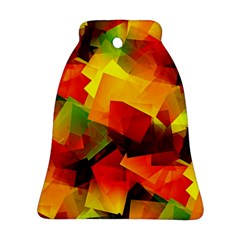 Indian Summer Cubes Bell Ornament (2 Sides) by designworld65