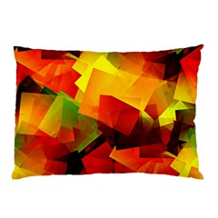 Indian Summer Cubes Pillow Case (two Sides) by designworld65