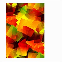 Indian Summer Cubes Large Garden Flag (two Sides) by designworld65