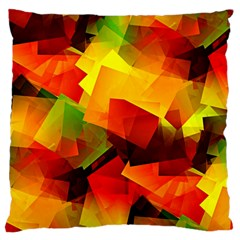 Indian Summer Cubes Large Cushion Case (one Side) by designworld65