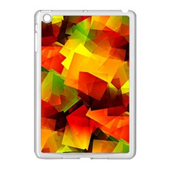 Indian Summer Cubes Apple Ipad Mini Case (white) by designworld65