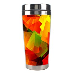 Indian Summer Cubes Stainless Steel Travel Tumblers by designworld65