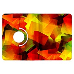 Indian Summer Cubes Kindle Fire Hdx Flip 360 Case by designworld65