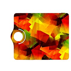 Indian Summer Cubes Kindle Fire Hdx 8 9  Flip 360 Case by designworld65