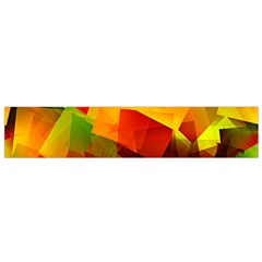 Indian Summer Cubes Flano Scarf (small)  by designworld65