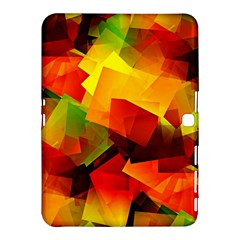 Indian Summer Cubes Samsung Galaxy Tab 4 (10 1 ) Hardshell Case  by designworld65