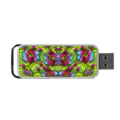 Freedom In Colors And Floral Portable USB Flash (Two Sides) by pepitasart