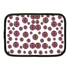 Shimmering Polka Dots Netbook Case (medium)  by pepitasart