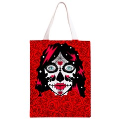 sugar skull red roses Classic Light Tote Bag by burpdesignsA