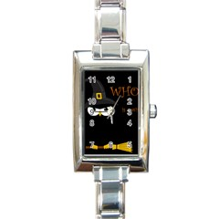 Who Is A Witch? Rectangle Italian Charm Watch by Valentinaart