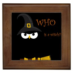 Who Is A Witch? Framed Tiles by Valentinaart