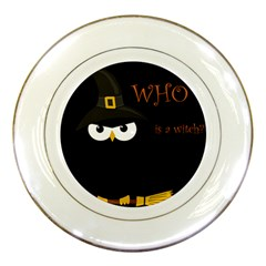 Who Is A Witch? Porcelain Plates by Valentinaart