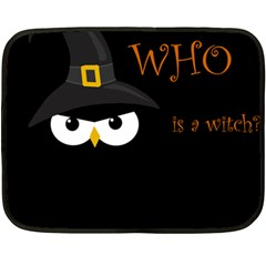 Who Is A Witch? Double Sided Fleece Blanket (mini)  by Valentinaart
