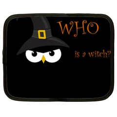 Who Is A Witch? Netbook Case (xxl)  by Valentinaart