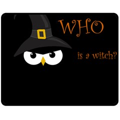Who Is A Witch? Double Sided Fleece Blanket (medium)  by Valentinaart
