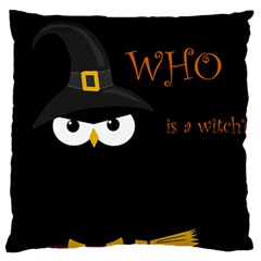 Who Is A Witch? Large Flano Cushion Case (two Sides) by Valentinaart