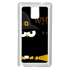 Who Is A Witch? Samsung Galaxy Note 4 Case (white) by Valentinaart