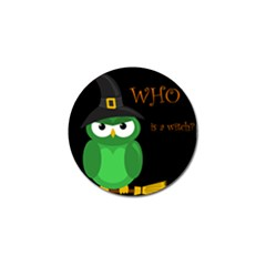 Who Is A Witch?   Green Golf Ball Marker (10 Pack) by Valentinaart