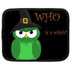Who Is A Witch?   Green Netbook Case (large) by Valentinaart