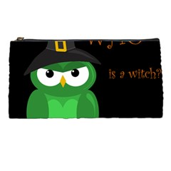 Who Is A Witch?   Green Pencil Cases by Valentinaart