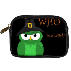 Who Is A Witch?   Green Digital Camera Cases by Valentinaart