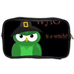 Who Is A Witch?   Green Toiletries Bags 2 Side by Valentinaart