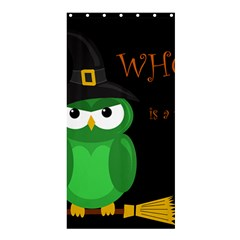 Who Is A Witch?   Green Shower Curtain 36  X 72  (stall)  by Valentinaart