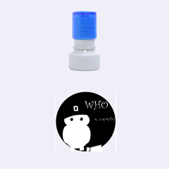 Who Is A Witch?   Green Rubber Round Stamps (small) by Valentinaart