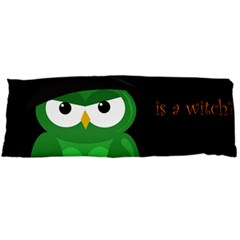 Who Is A Witch?   Green Body Pillow Case Dakimakura (two Sides) by Valentinaart