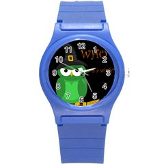 Who Is A Witch?   Green Round Plastic Sport Watch (s) by Valentinaart