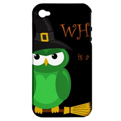 Who Is A Witch?   Green Apple Iphone 4/4s Hardshell Case (pc+silicone) by Valentinaart
