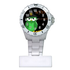 Who Is A Witch?   Green Plastic Nurses Watch by Valentinaart