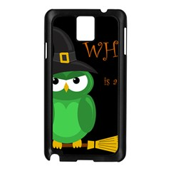 Who Is A Witch?   Green Samsung Galaxy Note 3 N9005 Case (black) by Valentinaart