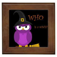 Who Is A Witch?   Purple Framed Tiles by Valentinaart