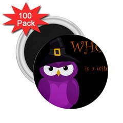 Who Is A Witch?   Purple 2 25  Magnets (100 Pack)  by Valentinaart