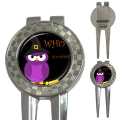Who Is A Witch?   Purple 3 In 1 Golf Divots by Valentinaart