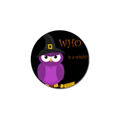 Who Is A Witch?   Purple Golf Ball Marker (4 Pack) by Valentinaart